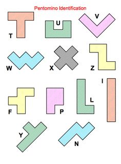 Here's a packet with a variety of problem solving activities (some very advanced) for use with pentominoes. FREE