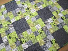 grey + green #quilt