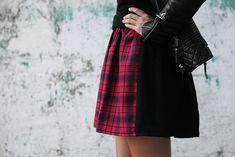 Creation | two tone tartan skirt