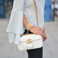 f0457c2c0bb2 16 Amazing Gucci Marmont in white. images | Couture bags, Gucci bags ...