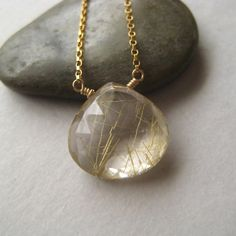 Rutilated Quartz Necklace by juliegarland | via Etsy.