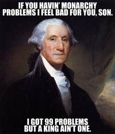 Who knew George Washington liked Ariana Grande...