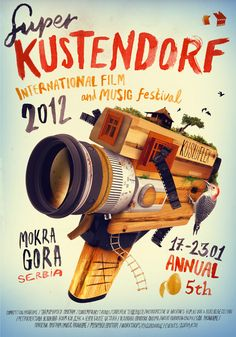 Kustendorf 2012 by Veljko Zajc, via Behance