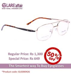 EDWARD BLAZE EBPO003 GOLDEN BROWN EYEGLASSES http://www.glareaffair.com/eyeglasses/edward-blaze-ebpo003-golden-brown-eyeglasses.html  Brand : Edward Blaze  Regular Price: Rs1,300 Special Price: Rs649  Discount : Rs651 (50%)