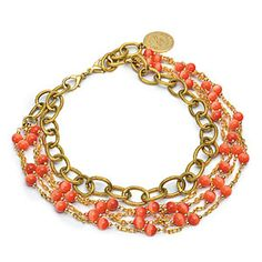 Four strand coral necklace - French Riviera Necklace by John Wind. maximalart.com.