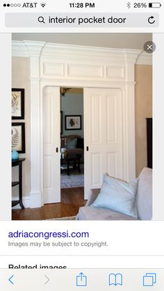 Love separating dining room and living room | Pocket door ideas ...