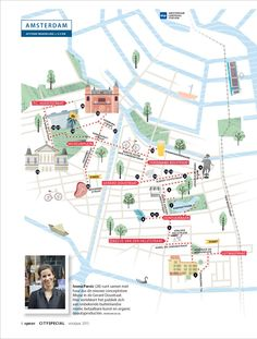 Illustration map Amsterdam Cracco