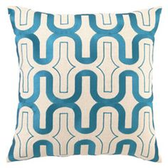DL Rhein Honeycomb Peacock Embroidered Pillow