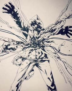 Original drawing for The Thing: Infection at Outpost 31 board game cover | Art by Jock