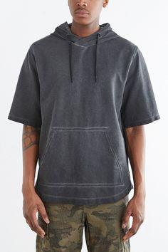 Feathers Short-Sleeve Pullover Hooded Sweatshirt