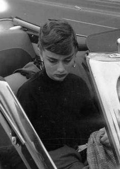 Audrey Hepburn photographed by Milton H. Greene in Malibu, California for Look Magazine, 1953.