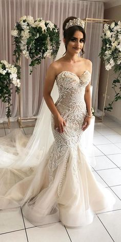 Beautiful Modest Wedding Dresses 36 Lace Wedding Dresses That You Will Absolutely Love Get inspired with our lace wedding dresses gallery from famous designers, their romantic colour palette, and decorative lace. Western Wedding Dresses, Stunning Wedding Dresses, Princess Wedding Dresses, Wedding Dresses Plus Size, Colored Wedding Dresses, Modest Wedding Dresses, Perfect Wedding Dress, Boho Wedding Dress, Bridal Dresses