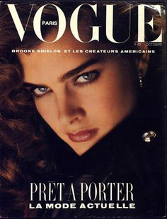Brooke Shields Vogue Paris cover - October 1984