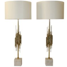Pair of Lamps by Angelo Brotto