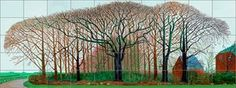 Bigger Trees Near Warter, Copyright: David Hockney. Photography by Richard Schmidt. Collection of Tate, London David Hockney Prints, David Hockney Artist, York Art Gallery, Tate Gallery, Landscape Art, Landscape Paintings, Landscapes, Schmidt, Pop Art