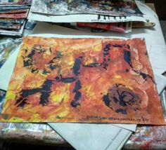 Creation series,  medium acrylics on canvas, size 12in X 16in, 2016 artist sudarsan yennamalli. Copyright 2016.