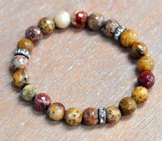 Multicolor Gemstone Bracelet/Mookite Beaded by BonafideBeads, $35.00