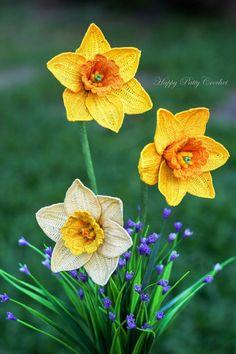 CROCHET PATTERN  Crochet Flower Pattern  Crochet Narcissus
