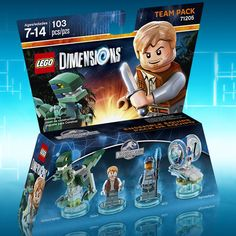 "legodimensions: "" The park is open in LEGO Dimensions! Pre-order the Jurassic World Team Pack to add Owen, his Velociraptor, an ACU Trooper and the Gyrosphere to your gameplay when Starter Pack..."