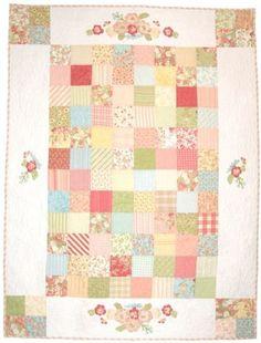 Acorn Quilts Meadow - charm pack quilt w/applique border
