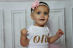 Baby Girls First Birthday Outfit Pink and Gold by First Birthday Themes, Baby Girl First Birthday, First Birthday Outfits, Birthday Ideas, Pink Tutu, Tulle Tutu, Baby Messages, Happy 1st Birthdays, Gold Polka Dots
