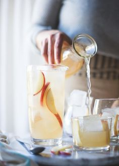Doesn't white nectarine Prosecco sangria with ginger and elderflower just sound completely refreshing?