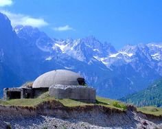 Bunkers in the Albanian Alps