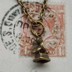 Gramophone necklace by CharlysGems