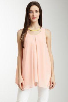 Sleeveless Side Drape Top by Classique on @HauteLook