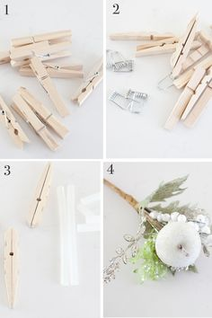 Clothespin Snowflake Ornament | The Lettered Cottage