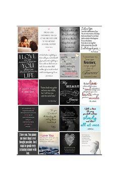 Pre-Cut Love Quote Stickers for Erin Condren Life by PhiaSticks