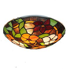 16inch Retro Tiffany Ceiling Lamp Glass Shade Flush Mount Living Room Dining Room light Fixture 4980782 2017 – £131.19