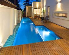 Concrete Pools Adelaide SA - Freedom Pools' custom designed concrete swimming pools can enhance with your outdoor entertainment area and lifestyle needs. Best Swimming, Swimming Pools Backyard, Pool Landscaping, Indoor Pools, Concrete Pool, Concrete Design, Backyard Pool Designs, Backyard Ideas, Haus Am See
