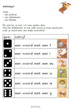 jufthirza.nl Learn Dutch, Dutch Language, Becoming A Teacher, Speech Language Therapy, Teaching Activities, New School Year, Learning Through Play, Kids Writing, School Hacks