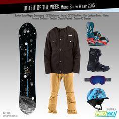 OUTFIT OF THE WEEK- Mens Snow Wear 2015 available at PROSKI www.proski.com.au #snowboards #snowgear #outfitoftheweek #burton #3CS # rome #ride #dragon #sandboxhelmets