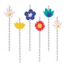 Tropical Flowers Straws By My Little Day