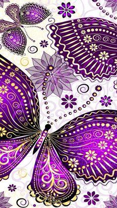 Needlepoint Canvas 14 or 18 count purple floral purple Cute Wallpapers, Wallpaper Backgrounds, Iphone Wallpaper, Purple Love, All Things Purple, Purple Stuff, Diamond Wallpaper, Butterfly Art, Purple Butterfly Wallpaper