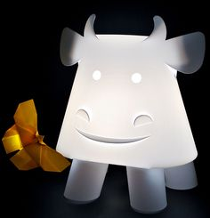 Cow Mini Colour - ZZZoolight - Eastern Inspired Origami Lights for Children and the young at Heart Kids Bedroom Lights, Bedroom Lighting, Origami Lights, Childrens Lamps, Tiffany Stained Glass, Chandelier Lamp, Chandeliers, Kids Lighting, Nightlights