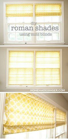 Learn how to make roman shades using mini blinds!