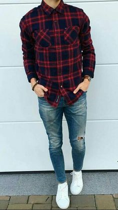 Stunning mens fashion trends 99218 mensfashiontrends is part of Mens clothing styles - Cool Outfits, Casual Outfits, Fashion Outfits, Fashion Trends, Plaid Shirt Outfits, Stylish Men, Men Casual, Style Masculin, Look Man