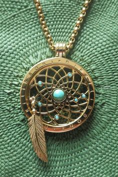 """NarVla Jewelry: """"Loving our own personal Nikki Lissoni Dreamcatcher coin pendant! Coin Pendant, Pendant Jewelry, Dream Catcher Jewelry, Spring Fashion Trends, Spring Trends, Rings N Things, Cross Jewelry, Body Jewellery, Ancient Jewelry"""