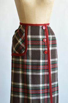 d1c177dc9 1960s Pendleton Skirt Vintage Wool Plaid Skirt by DalenaVintage Vintage Wool,  Plaid Skirts, Vintage