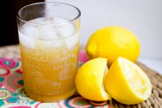 Whiskey Sours (two small drinks–or one substantial cocktail) 2 oz whiskey juice of one lemon (about 1/4 C) 2 t agave syrup or honey (or an ounce simple syrup–this will water the whiskey down a bit more) ice   Combine the whiskey, lemon juice, and agave into a shaker and shake it until combined.  Strain into a whiskey sour glass over ice.