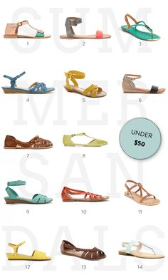 2ac97d1b0751 Summer Sandal Round-Up (Under  50!)