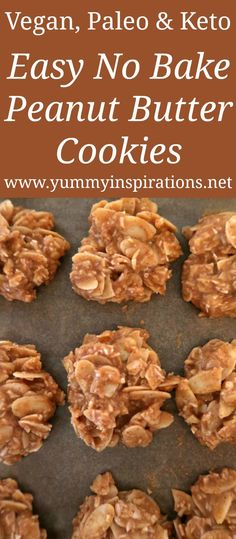 Easy No Bake Peanut Butter Cookies Recipe - Low Carb & Gluten Free