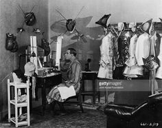 Rudolph Valentino on the set of 'Monsieur Beaucaire', 1924, directed by Sidney Olcott.