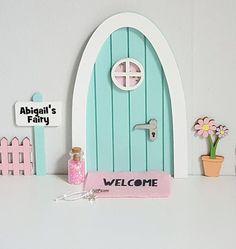 Fairy Door Pastel Pink, Purple Glitter Little Girls Bedroom Door ...