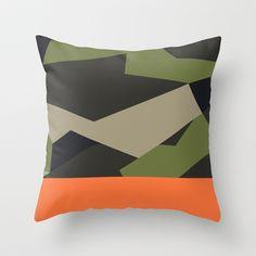 Swedish Camo Throw Pillow by Derek Boman - Cover x with pillow insert - Indoor Pillow Throw Cushions, Couch Pillows, Designer Throw Pillows, Down Pillows, Accent Pillows, Camo Designs, Paint Designs, Fluffy Pillows, Pillow Inserts
