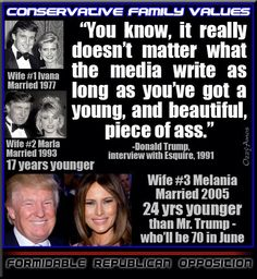 Trump - CHEATED ON 1ST with 2ND - CHEATED ON 2ND with 3RD - NOW IT'S SAID HE'S CHEATING ON THE 3RD!!!