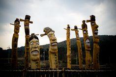South Korean Totem Pole